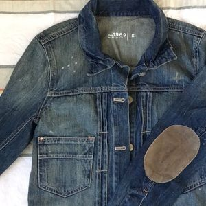 NWT Gap 1969 Distressed Denim Jacket Size Small